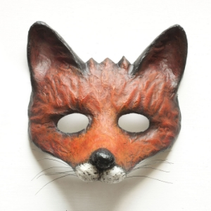 "Nib&Chisel  - ""Paper (papier mache) animal half face masks painted with acrylic paint. Masks are entirely handmade. I have about 20 different animal designs at the moment."""