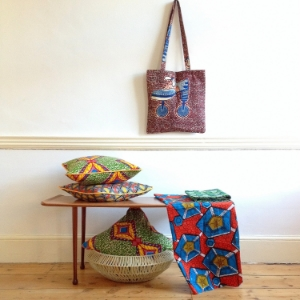 "Gaynor Trophies  - ""Gaynor Trophies products are hand-made from vibrant African wax-print fabrics, bringing an eclectic spin and bountiful colour into the home."""