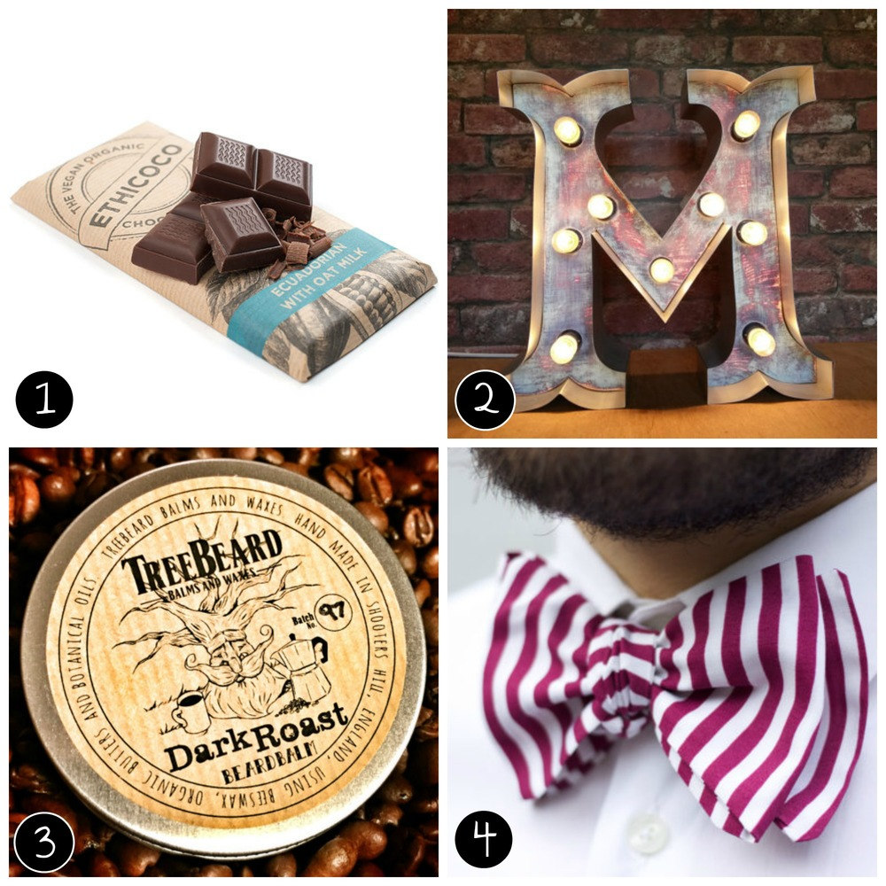 1. Ethicoco, 2. softsigns, 3. TreeBeard Balm and Waxes, 4. Blow Ties