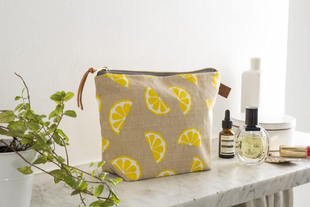 Jenny Sibthorp Lemon Washbag