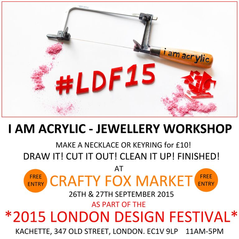Jewellery making with I Am Acrylic