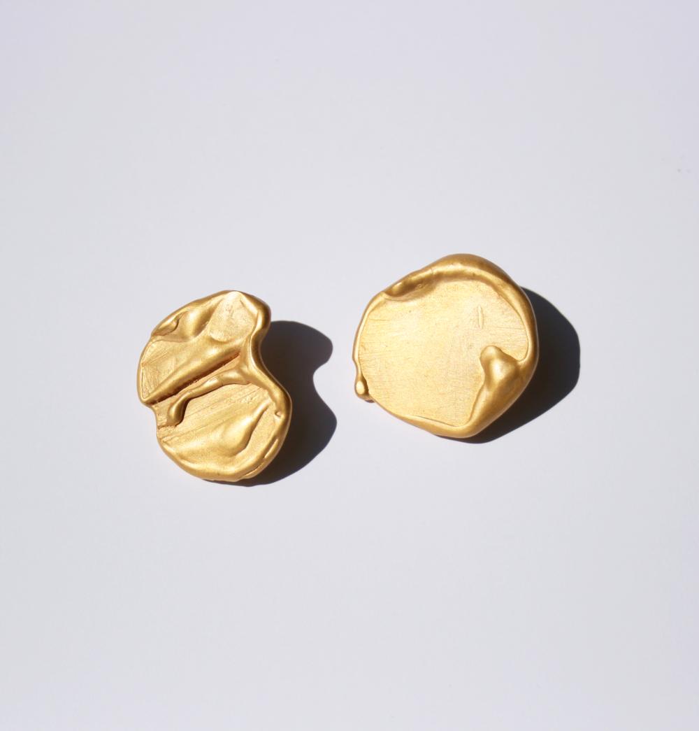 Gold Magma Earrings from Filia Rex