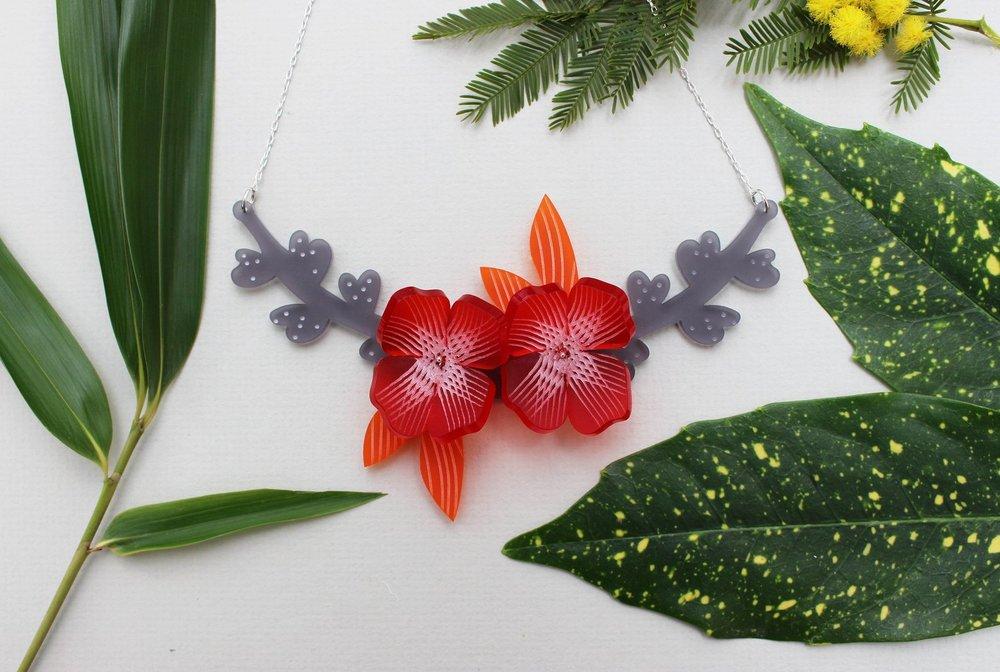 Botanical Floral Necklace by Julia de Klerk