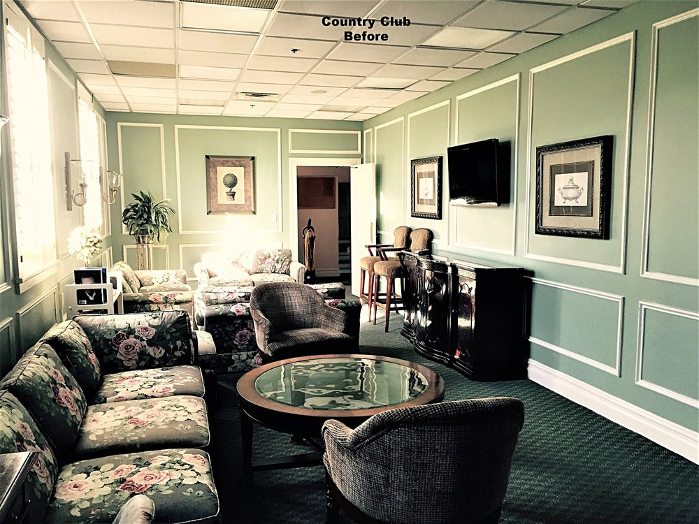 Country Club Ladies Lounge Before