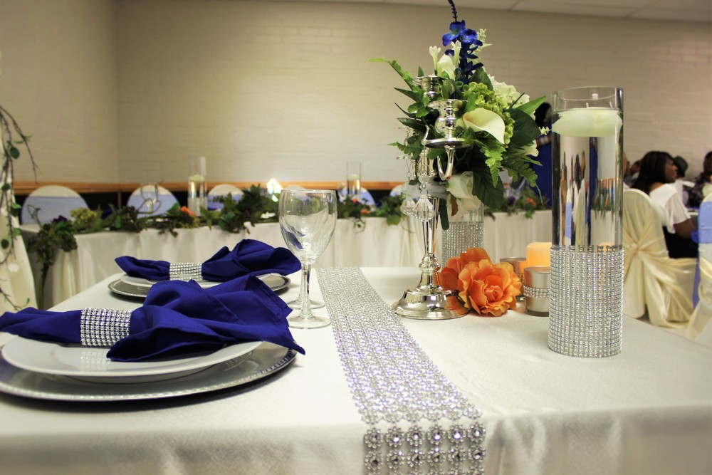 The Minton's Bride & Groom Table Scape I