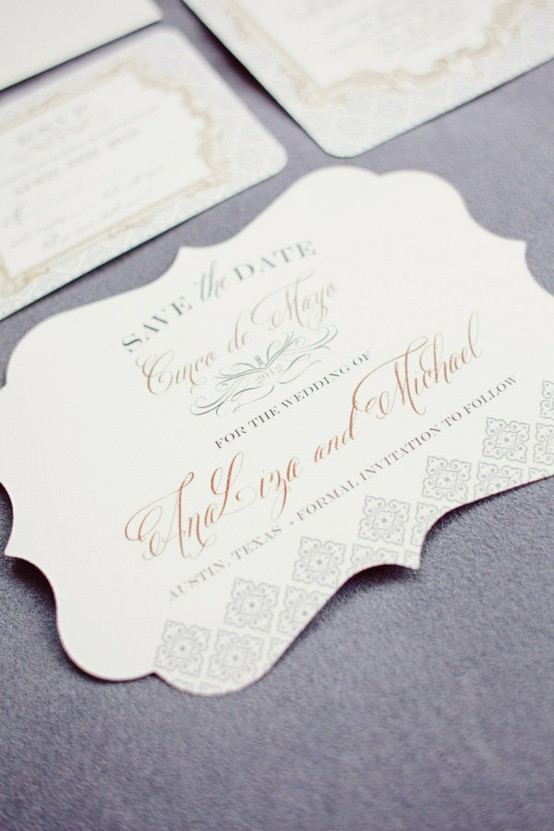 Elegant Save the Date- www.weddbook.com