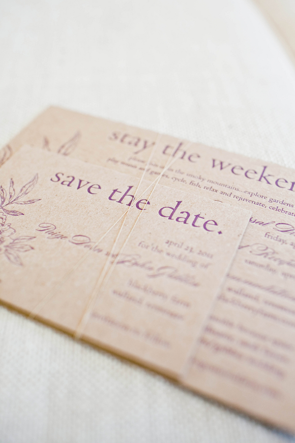 Recyclable paper Save the dates- www.frostedpetticoatblog.com