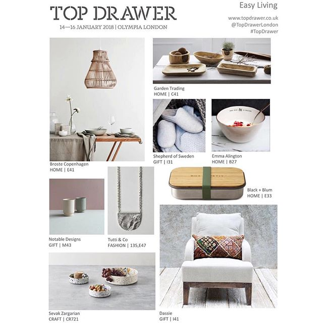 Here's a little preview of @topdrawerlondon before opening this Sunday with the Easy Living trend my bowls have been included in.  Come find me on Stand CR721 with fellow @craftcentraluk members.  Thanks to @emmaalington for the spot!