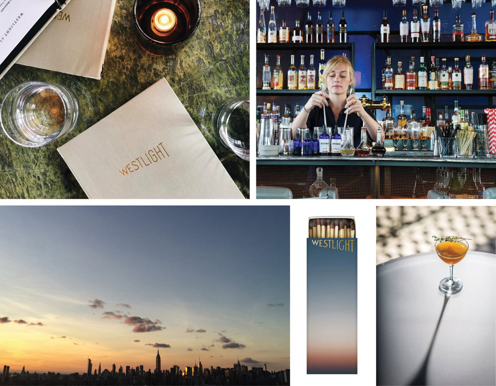 Westlight, BRANDING, DESIGN,   Andrew Carmellini,   Williamsburg, The William Vale, Brooklyn, LOVE AND WAR