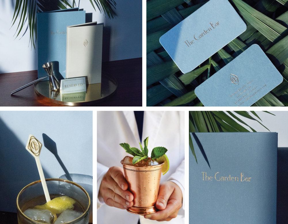 Georgie, The Garden Bar, BRANDING, DESIGN, Geoffrey Zakarian, Los Angeles, Montage Hotels, Beverly Hills, LOVE AND WAR