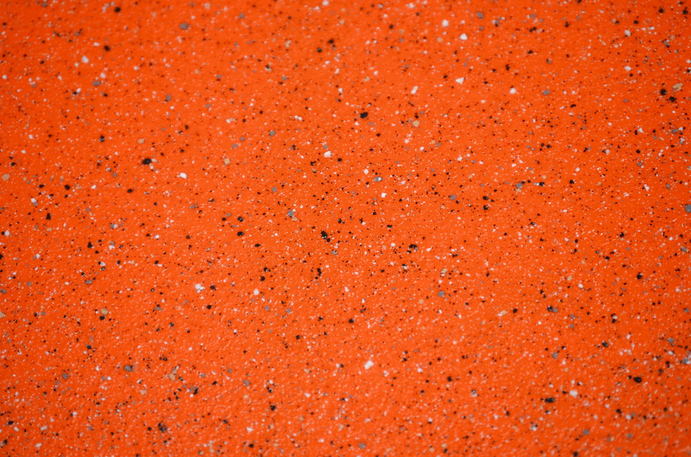 granite speckle on orange