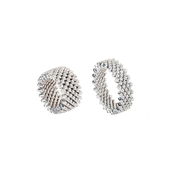 Ringcelet Ring/Armreif  Der 18 Karat Gold Ring mit Diamanten und Farbsteinen kann sowohl als Ring wie auch als Armreif getragen werden.