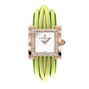 Allegra Armbanduhr   Damen Armbanduhr aus der Kollektion  Allegra in 18 Karat Rotgold mit Diamanten.