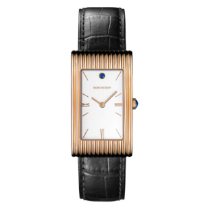 Reflet Armbanduhr   Automatische Damen Armbanduhr aus der Kollektion  Reflet  in 18 Karat Roségold mit einem Saphir Cabochon.