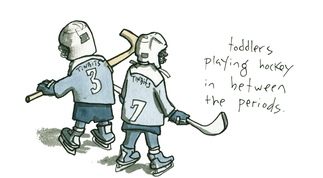 I drew a comic about AHL hockey for the excellent sports journalism operation, The Classical.  Click through for the article…