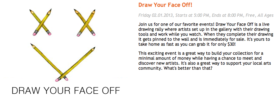 I'll be at  Space Gallery (Portland, ME)  tomorrow, participating in a cool little live action drawing rally, 5:00 - 8:00 PM.
