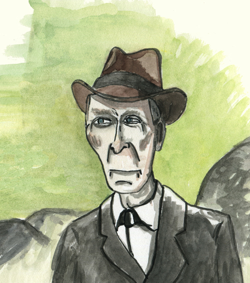 Trying to paint the cadaverous brilliance of Peter Cushing