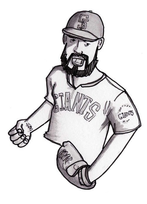 Seasonally inappropriate, yes, but here's a drawing of Brian Wilson