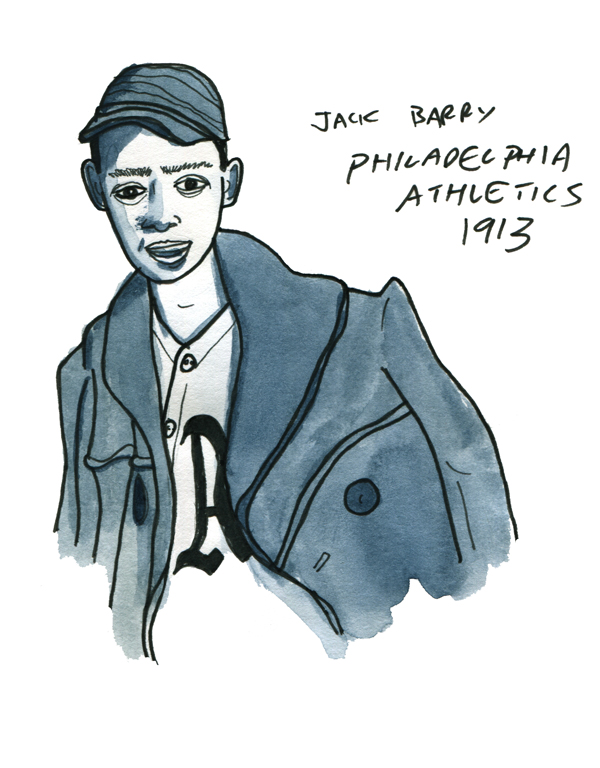 sketchbook: Jack Barry, Philly Athletics 1913