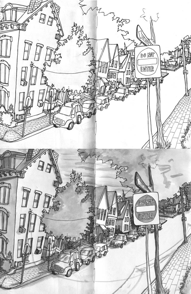 Sketchbook: Western Promenade, Portland Maine