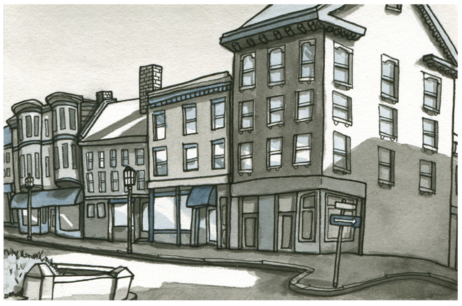 sketchbook: Silver & Fore Streets — Portland, Maine
