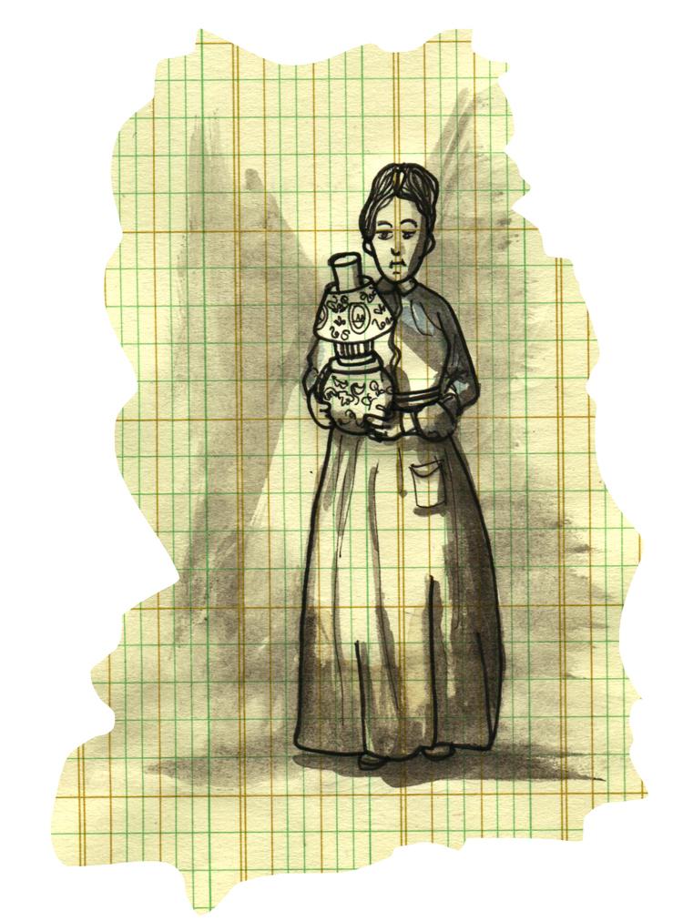 lantern on graph paper