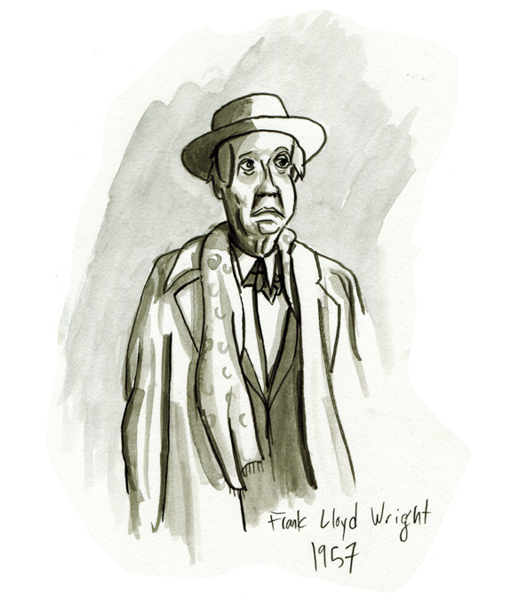 Morning warm-up: Frank Lloyd Wright, 1957