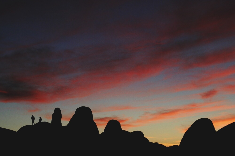 We were treated to a beautiful sunset a short rock scramble from Arch Rock.