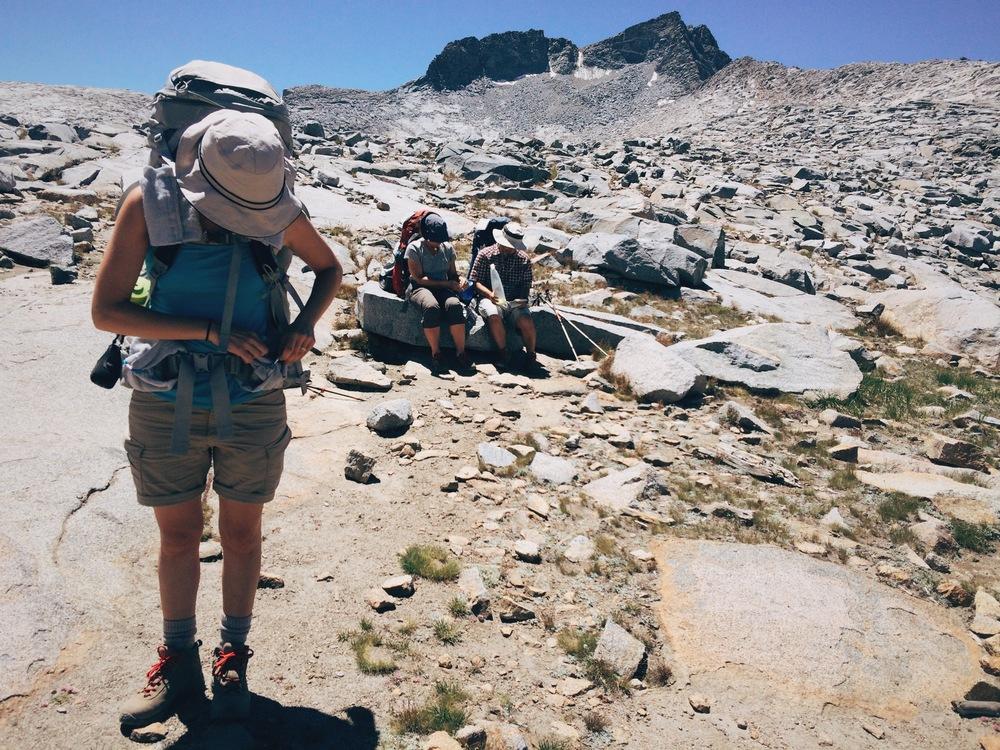 Pack adjustments at Donahue Pass (11,056').