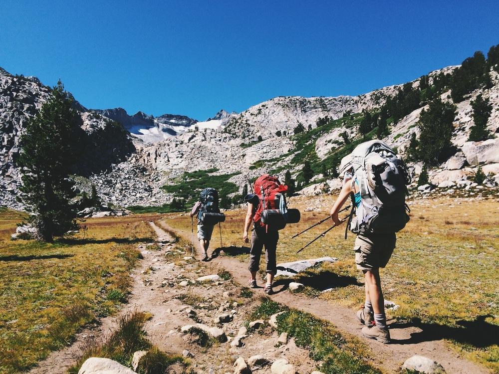 Hiking toward Donahue Pass.