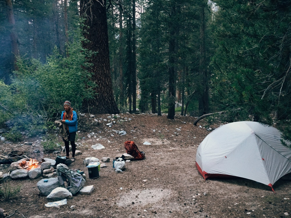 Day 11: camped at Deer Meadow near Palisade Creek, near the base of the Golden Staircase.