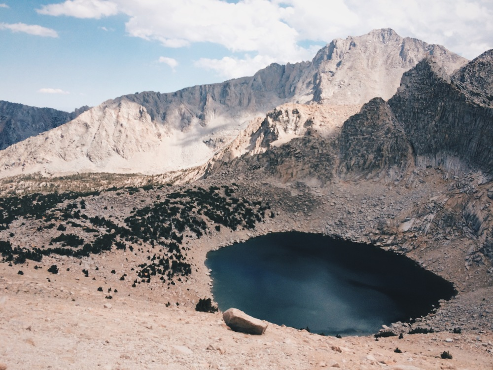 Big Pothole Lake, just east of Kearsarge Pass.