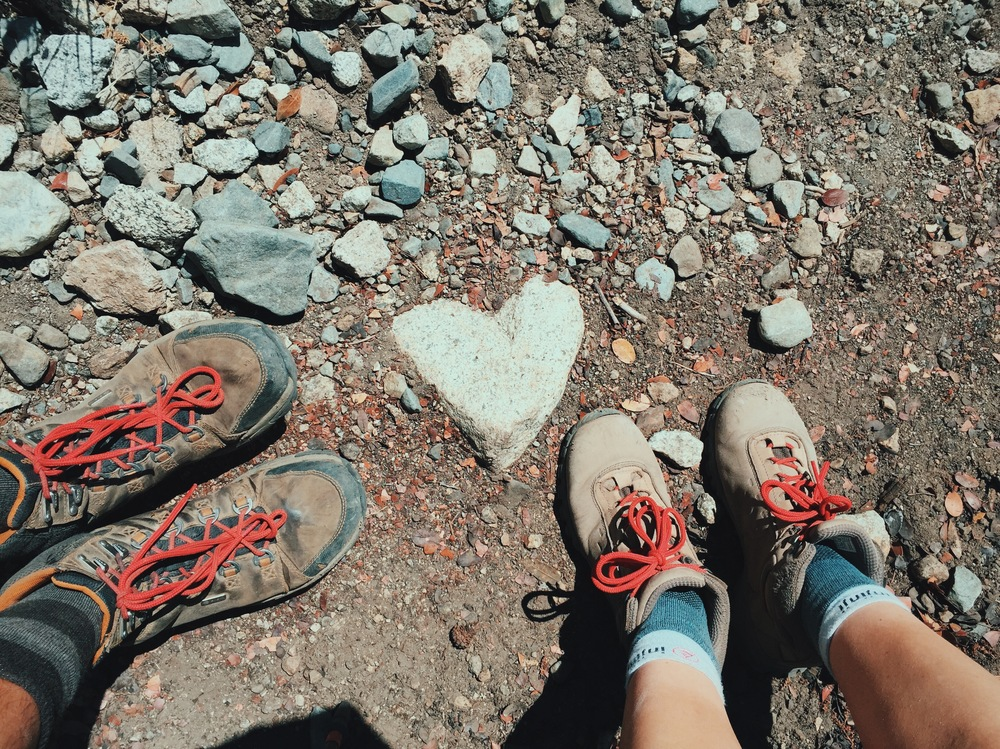 We were ready to leave Muir Trail Ranch after a night and got some encouragement by a heart-shaped rock wedged in the trail.