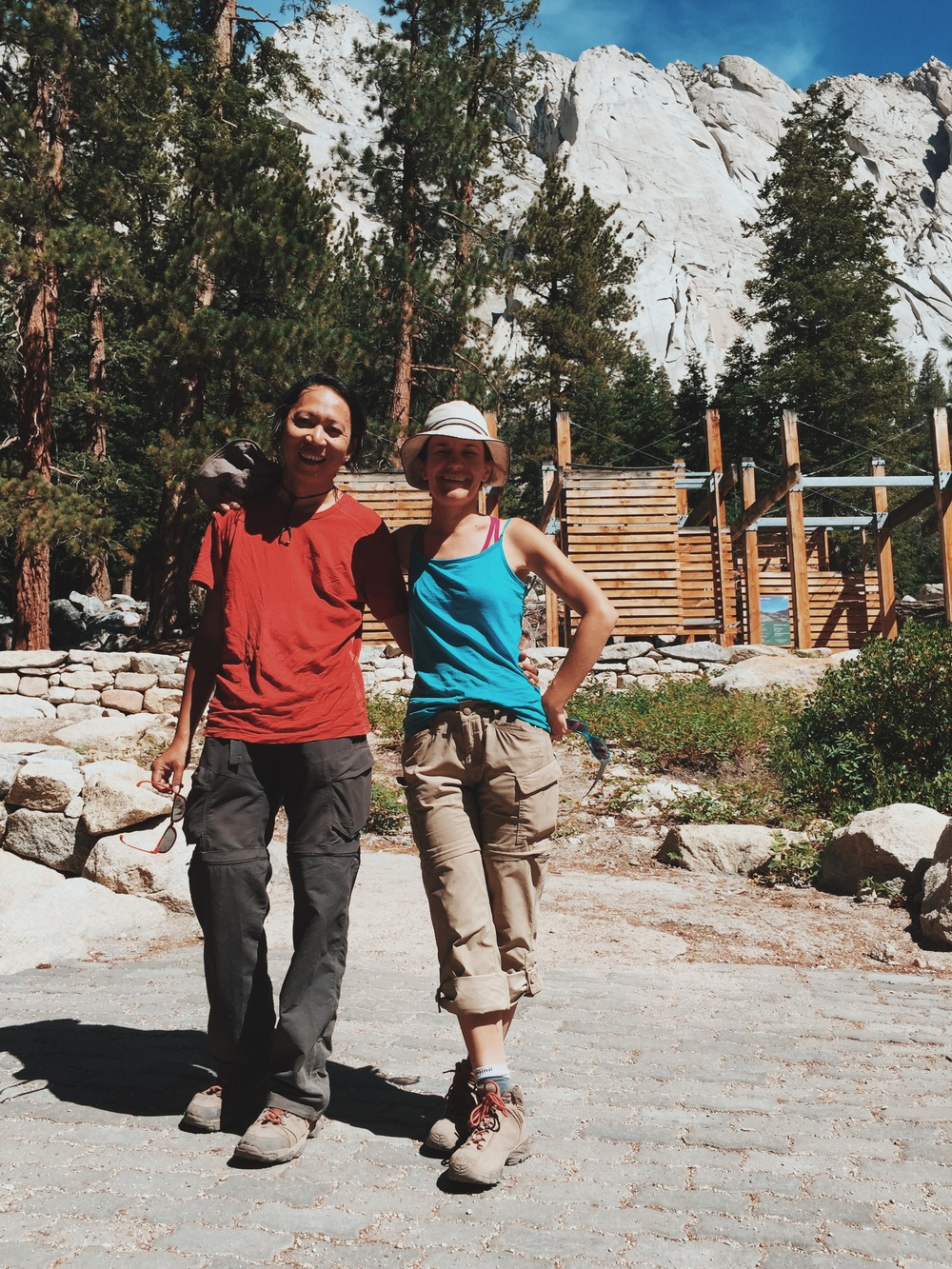 "Back down at Whitney Portal. It's a good feeling when a stranger takes your picture and you get to reply ""220+ miles and 19 days"" to the question ""How long did you hike?"""