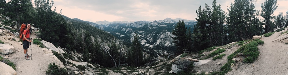 Overlooking Cascade Valley, John Muir Wilderness