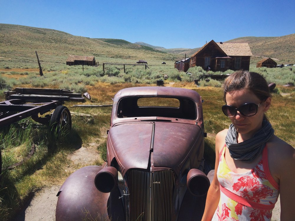 Day-after-hike shenanigans at Bodie State Historic Park