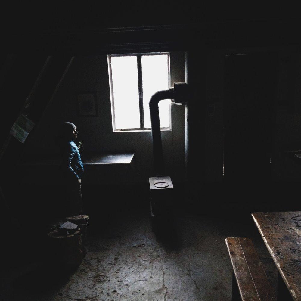 Inside Ludlow Hut