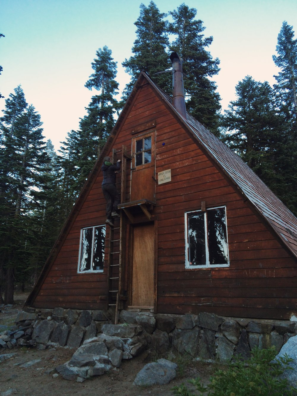 Ludlow Hut near Richardson Lake,built by the Sierra Club.