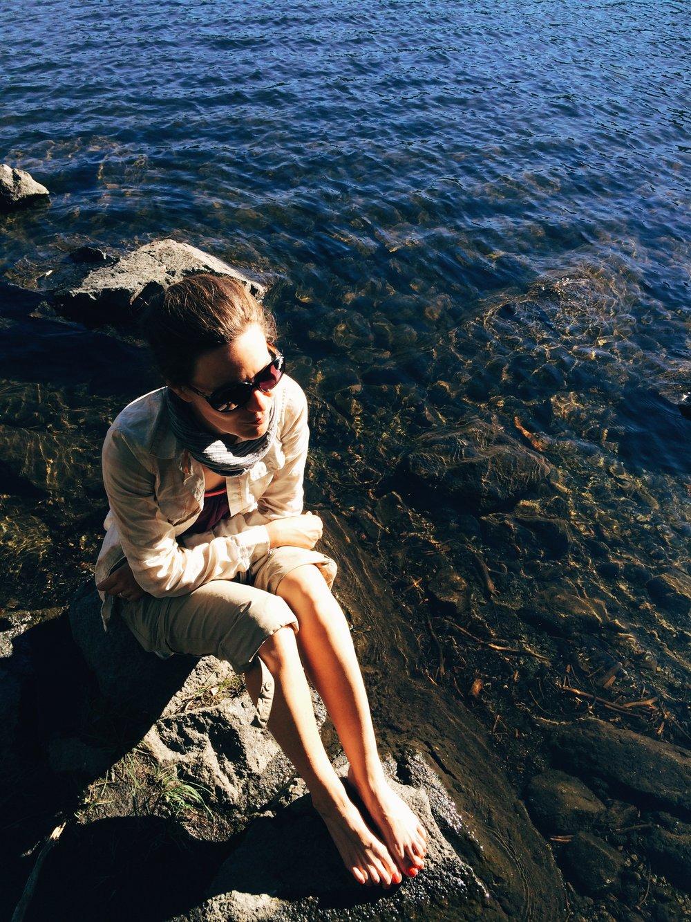 Sunning at Lake Richardson