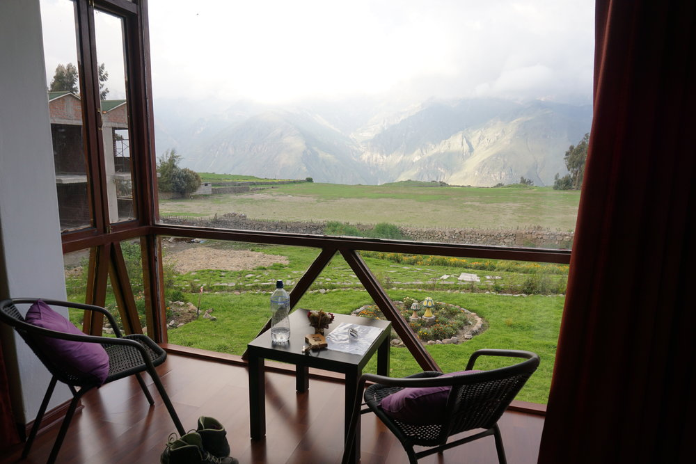 The view from our room at Colca Trek Lodge.