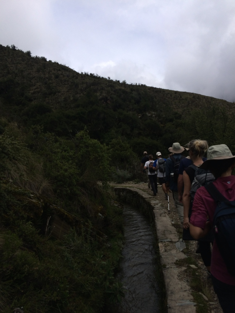 Ancient Inca waterway along the Salkantay Trail. Our guide shared that about 40% of the waterways were retrofitted in modern times, but the remaining 60% are original.