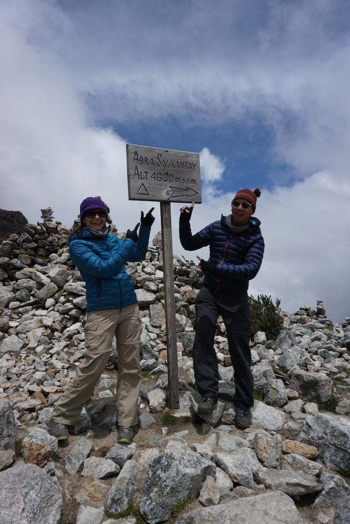 Salkantay Pass, the highest point we had ever reached on foot (which we beat by 1,300' the following week)