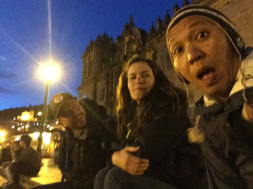 E+J and James up to no good in Cusco while an ailing Christine rested in her room