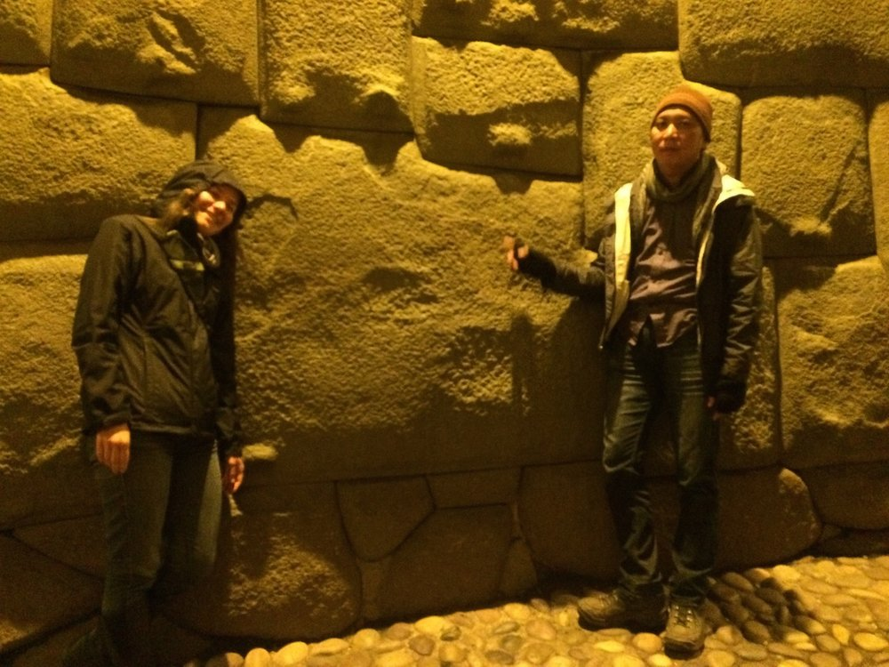 The famous 12-sided stone of Cusco. The peddler guarding it claimed it is more famous than Michael Jackson.