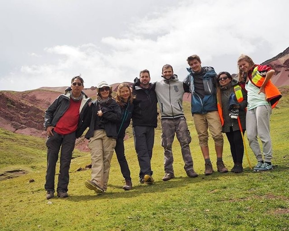 Our intrepid group who chose to take the much longer route back included the four of us, two Russians, a Bulgarian and a Peruvian.