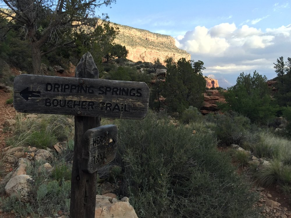 Signage along Hermit Trail
