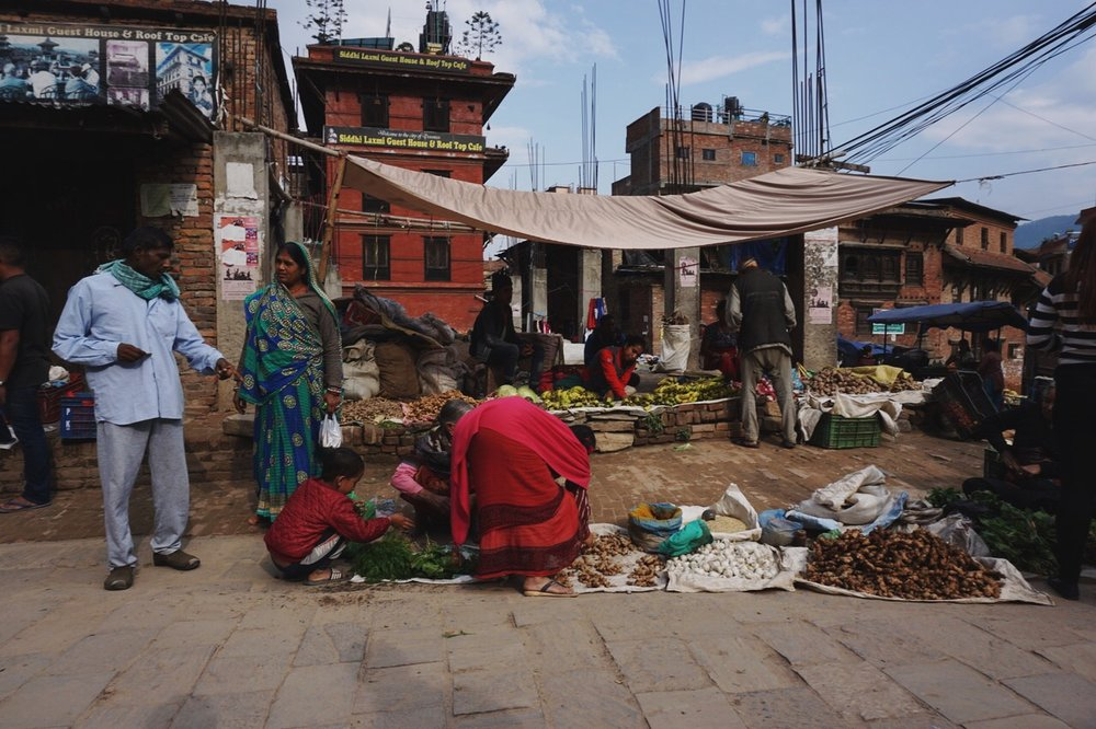 Vendors near Durbar Square