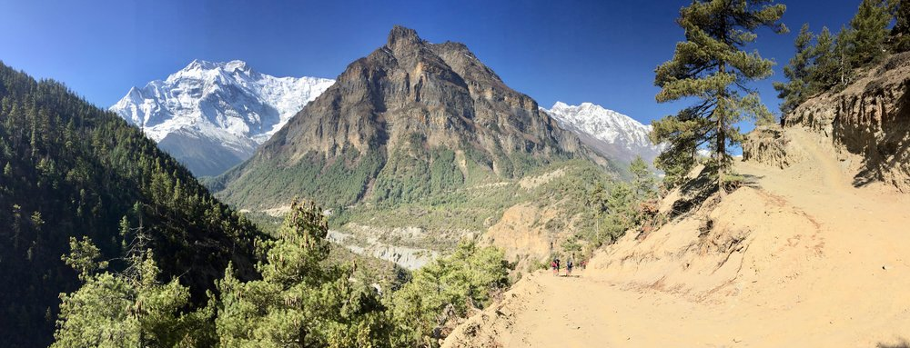 On the ascent to the ancient village of Ghyaru