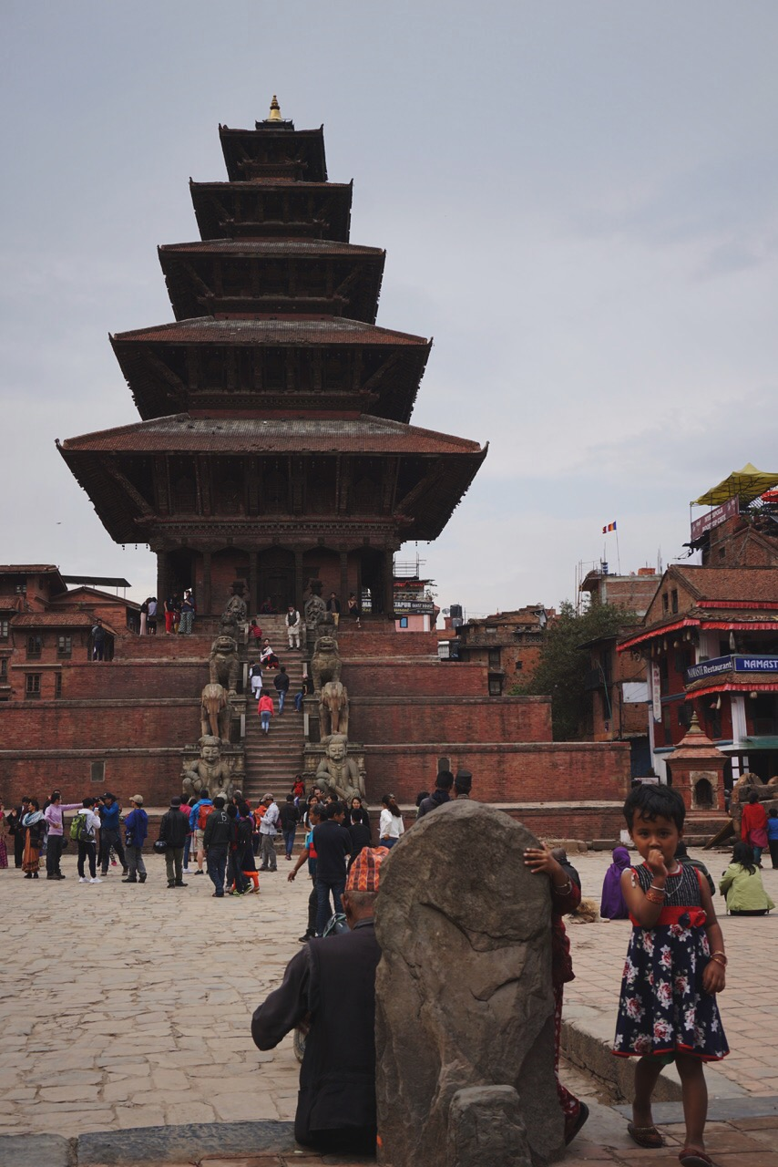 The center of Bhaktapur's Durbar Square