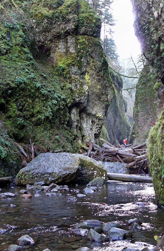 Long hikes through gorges, exploring, and looking for beautiful shots